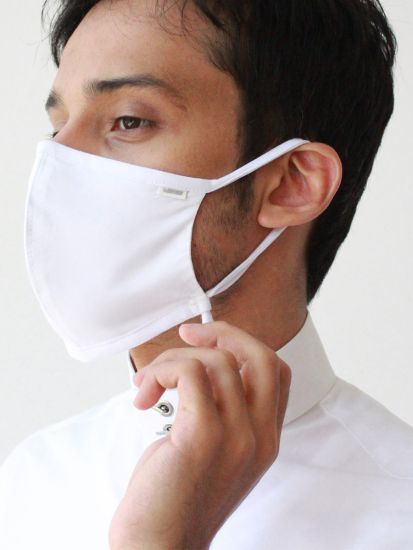 Lomar Mask Black adjustable -white