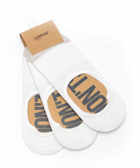 Boat Sock set of 3 pairs - White | Beige # 11