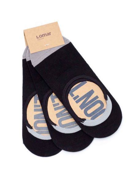 Boat Sock set of 3 pairs - Black | Grey #10