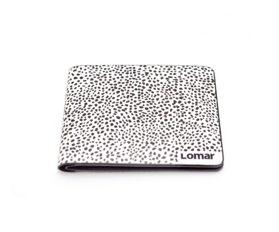 A dotted wallet with a design inspired by local culture