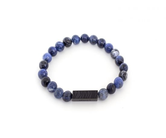 Lomar Bracelet #12 Dark Blue from Sodalite Stone Black