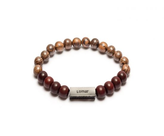 Lomar Bracelet #11 - Dark Brown/ Wooden beads bracelet- Dark brown