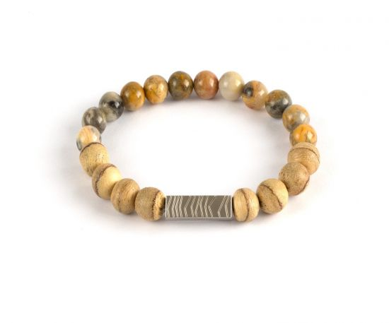 Lomar Bracelet #6 made of Agate Beige