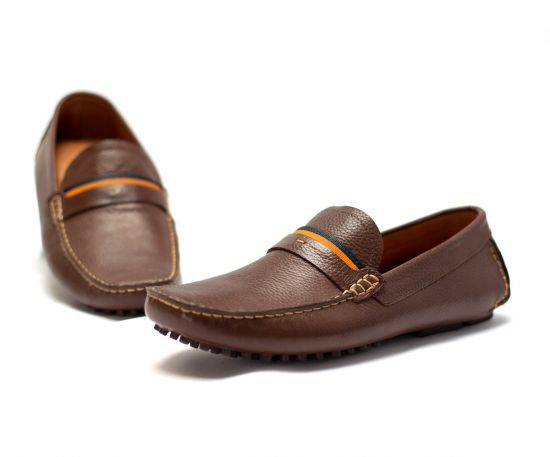 Lomar leather shoes - Dark Brown