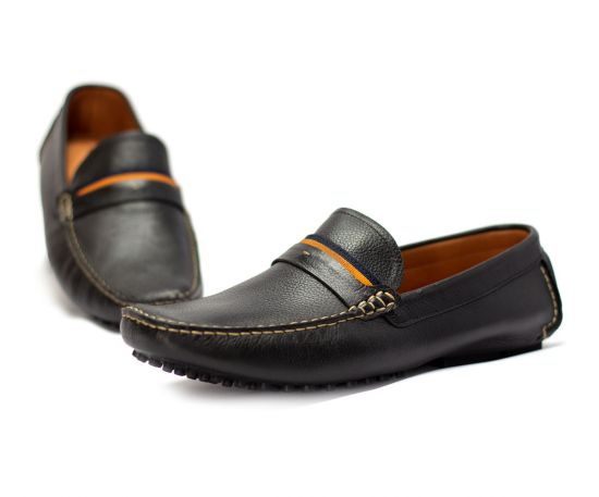 Lomar leather shoes - Black