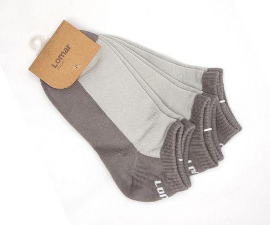 Short Sock Set of 3 pairs - Dark & Light Gray