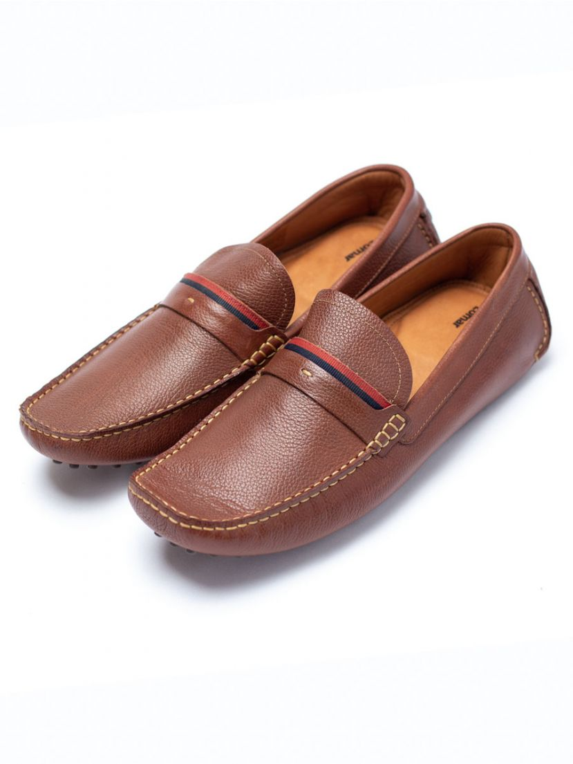 Lomar leather shoes - Brown